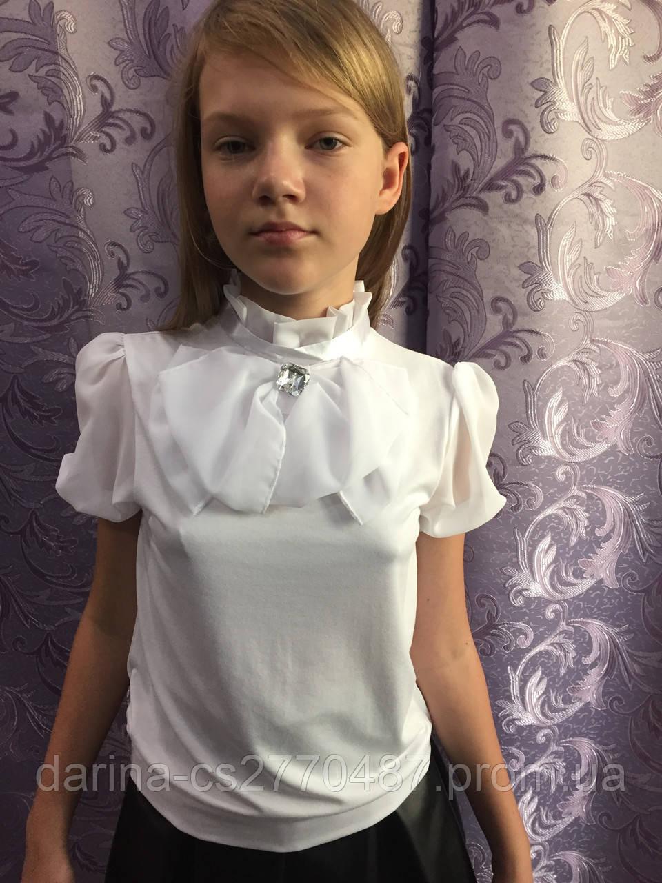f345374351b Нарядная белая блузка для девочки  продажа