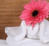 Белое банное полотенце для рук махровое для готеля Hotel(готельное полотенце) 100% хлопок