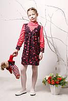 Детское платье р. 116 для девочки ткань ТРИКОТАЖ 3757 Малиновый