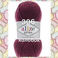 Пряжа для ручного и машинного  вязания Alize EXTRA (Экстра) акрил 306 сливовый