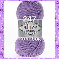 Пряжа для ручного и машинного  вязания Alize EXTRA (Экстра) акрил 247 лиловый