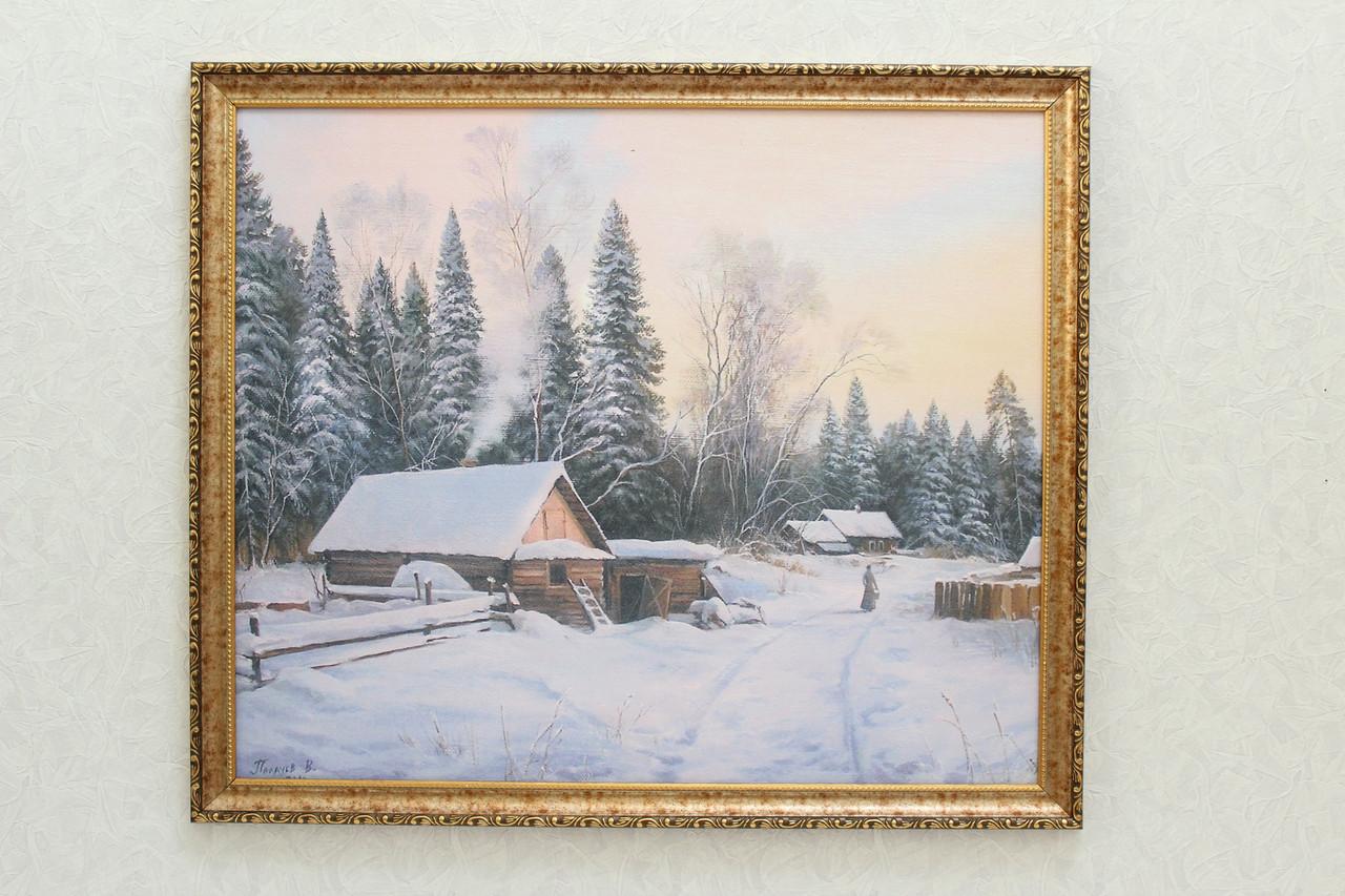 "Картина ""Зима в деревне"""