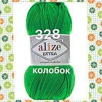 Пряжа для ручного и машинного  вязания Alize EXTRA (Экстра) акрил 328 трава