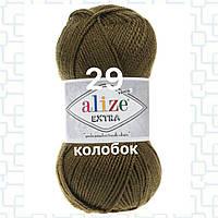 Пряжа для ручного и машинного  вязания Alize EXTRA (Экстра) акрил 29 хаки
