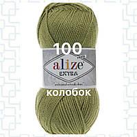 Пряжа для ручного и машинного  вязания Alize EXTRA (Экстра) акрил 100 оливковый