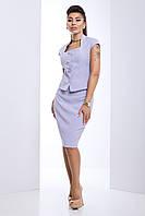 Женский костюм с юбкой Ясмина серый