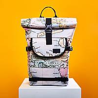 Светлый рюкзак с принтом карты от урбан пленет