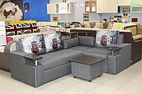 Угловой диван серии 15-1-6-7 с нишей для белья