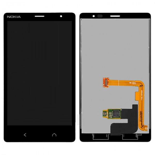 Дисплей (экран) для Microsoft (Nokia) X2 Dual Sim (M-1013) с сенсором (тачскрином) черный Оригинал
