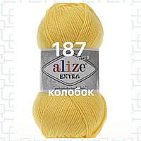 Пряжа для ручного и машинного  вязания Alize EXTRA (Экстра) акрил 187 светлый лимон
