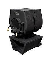 Отопительная конвекционная печь Rud Pyrotron Кантри 01 с варочной поверхностью Обшивка декоративная (бордовая)
