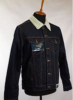 Джинсовая куртка Montana утепленная темно-синяя