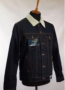 Джинсова куртка Montana утеплена темно-синя