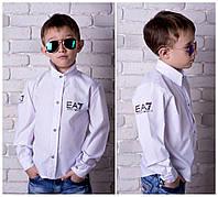 Стильная рубашка Armani для мальчика,шикарный вариант в школу