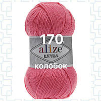 Пряжа для ручного и машинного  вязания Alize EXTRA (Экстра) акрил 170 темно  розовый