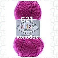 Пряжа для ручного и машинного  вязания Alize EXTRA (Экстра) акрил 621 фуксия