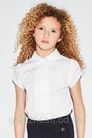 Рубашка с короткими рукавами и кружевом на 7 лет (ТМ Next)