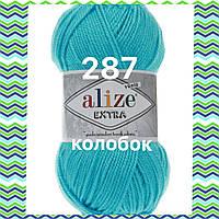 Пряжа для ручного и машинного  вязания Alize EXTRA (Экстра) акрил 287 морская волна
