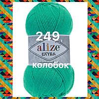 Пряжа для ручного и машинного  вязания Alize EXTRA (Экстра) акрил 249 водяная зелень