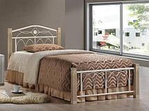 Односпальні ліжка з металу, ковані елементи