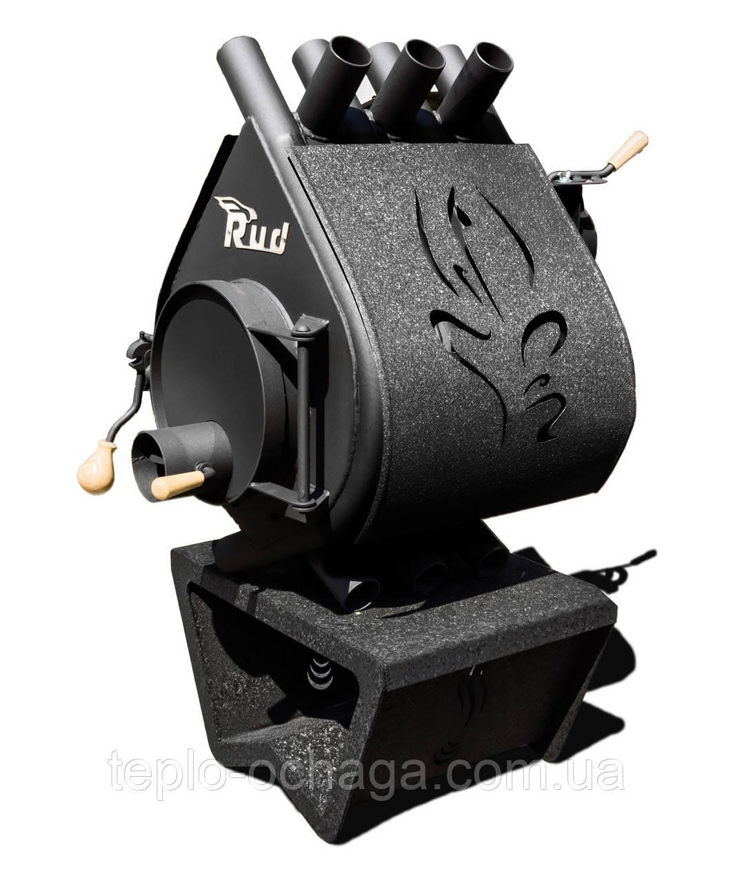 Дровяная печь длительного горения Rud Pyrotron Кантри 00 С обшивкой декоративной (черная)