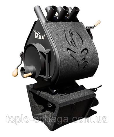 Дровяная печь длительного горения Rud Pyrotron Кантри 00 С обшивкой декоративной (черная), фото 2