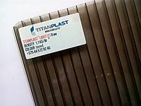 Белорусский поликарбонат сотовый TitanPlast 2,1х6м 8 мм бронза