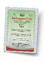 Альбендазол-Л 7,5 % порошок 15 гр от гельминтов для животных
