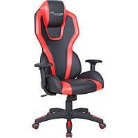 Кресло геймерское    VR Racer Atom черный, PU черный/красный AMF