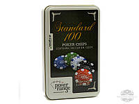 Покерный набор на 100 фишек в коробке №100-3