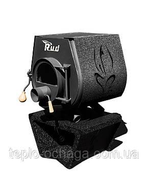 Печь с варочной поверхностью Rud Pyrotron Кантри 00 обшивка декоративная (бордовая), фото 2