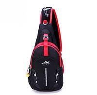 Рюкзак на одно плечо. Размер 35-18-9 см. Черный