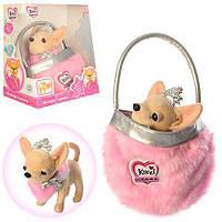 """Собачка Кики """" Принцесса красоты"""" в меховой сумочке качественный аналог ChiChi Love, фото 1"""