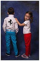 """Модельные брюки """"ЛЕН"""" для мальчика и девочки, ткань-высокого качества"""