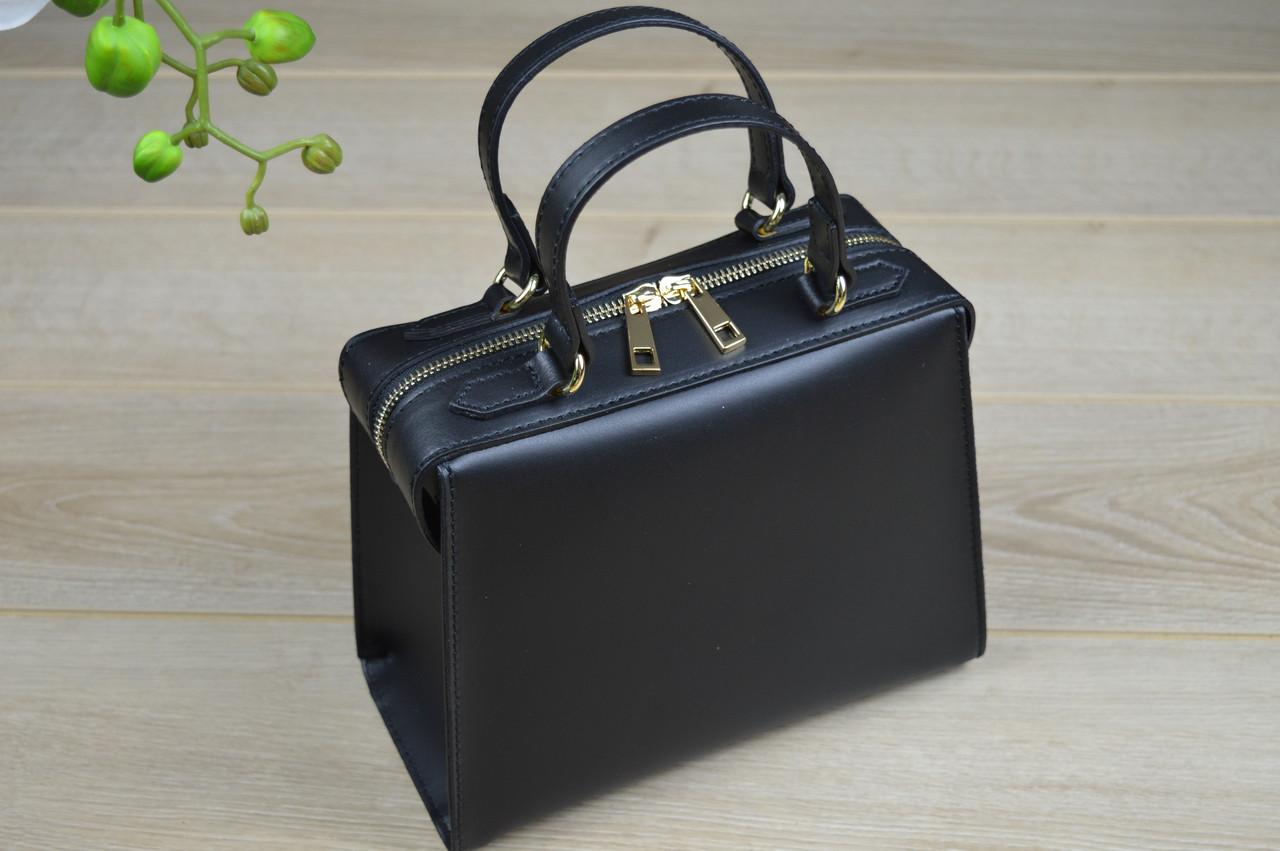 592c28d14ae3 Черная кожаная сумка Virginia Conti - Интернет магазин