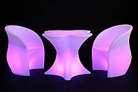 Комплект светящейся мебели стол Antares+2 стула Vader