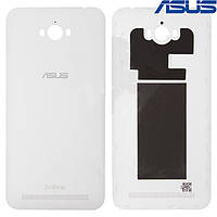 Задняя панель корпуса (крышка аккумулятора) для Asus Zenfone Max (ZC550KL), белая, оригинал
