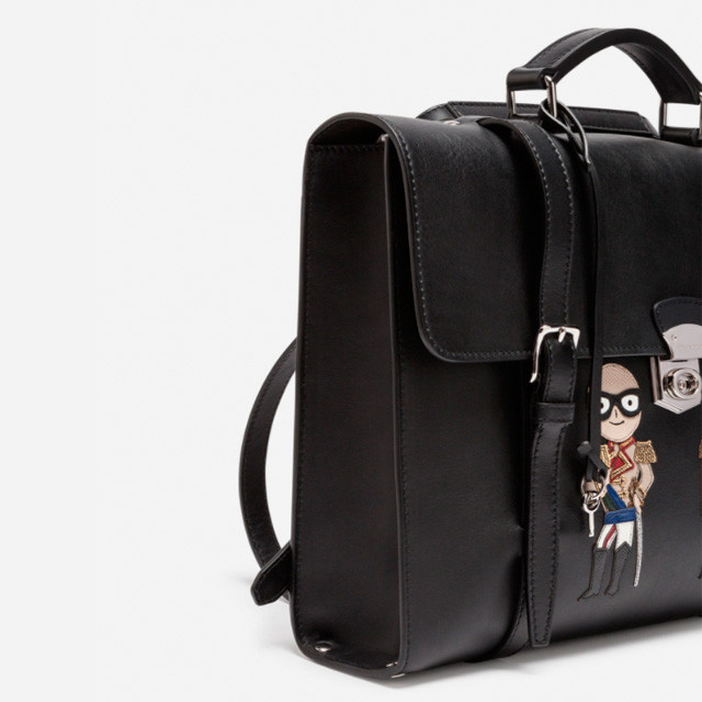 Мужской кожаный портфель Dolce&Gabbana