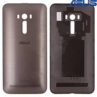 Задняя панель корпуса (крышка аккумулятора) для Asus ZenFone Selfie (ZD551KL), черная, оригинал