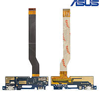Шлейф для Asus Zenfone 3 Max (ZC520TL), коннектора зарядки, с компонентами, оригинал