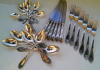 Серебрение 999,9пр. Столовый набор, приборы, Ссср Ложки, вилки, мельхиор