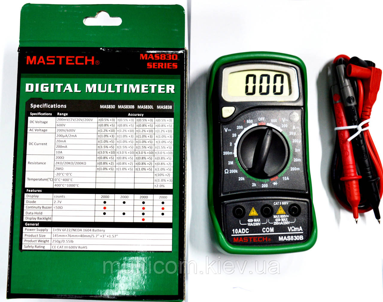 12-13-012. Цифровой мультиметр Mastech MAS830B