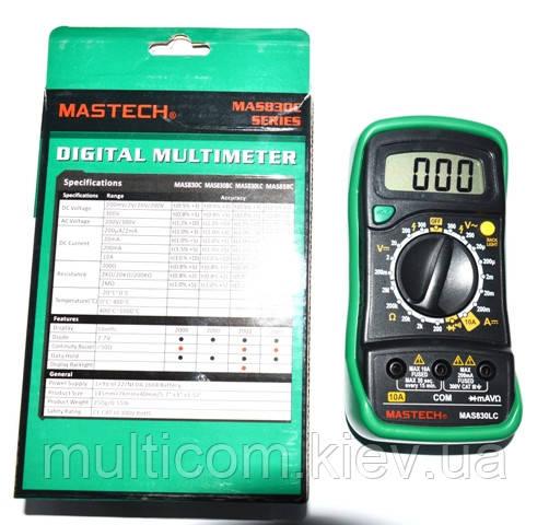 12-13-014. Цифровой мультиметр Mastech MAS830LC