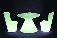 Комплект светящейся мебели стол Aitair+2 стула Ray