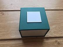 Подарочная коробка для часов зелёная
