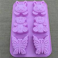 Форма для выпечки детская Зайка Мишка Бабочка
