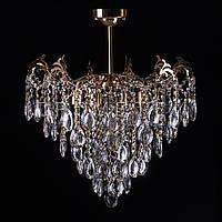 Хрустальная люстра, классическая на 6 лампочек. P5-E1285/6/FG