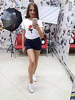 Льняные женские шорты у-t10129
