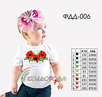 Пошитая футболка на девочку №006