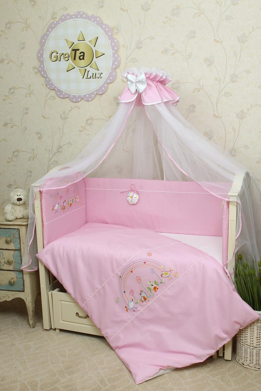 Комплект постельного белья в детскую кроватку Радуга